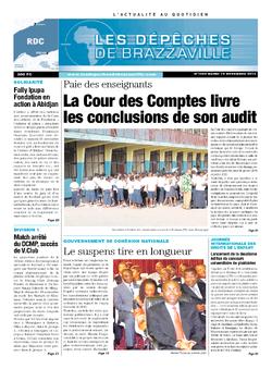 Les Dépêches de Brazzaville : Édition kinshasa du 19 novembre 2013