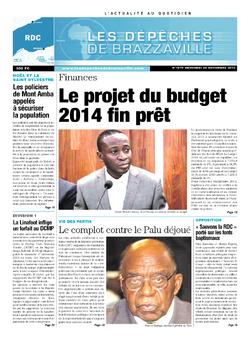 Les Dépêches de Brazzaville : Édition kinshasa du 20 novembre 2013