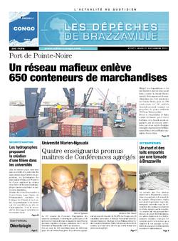Les Dépêches de Brazzaville : Édition brazzaville du 21 novembre 2013