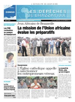 Les Dépêches de Brazzaville : Édition brazzaville du 22 novembre 2013