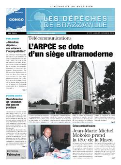 Les Dépêches de Brazzaville : Édition brazzaville du 25 novembre 2013