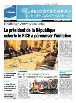 Les Dépêches de Brazzaville : Édition brazzaville du 26 novembre 2013