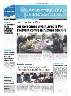 Les Dépêches de Brazzaville : Édition brazzaville du 27 novembre 2013