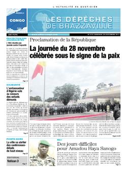 Les Dépêches de Brazzaville : Édition brazzaville du 29 novembre 2013