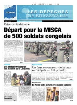 Les Dépêches de Brazzaville : Édition brazzaville du 03 décembre 2013