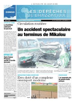 Les Dépêches de Brazzaville : Édition brazzaville du 04 décembre 2013