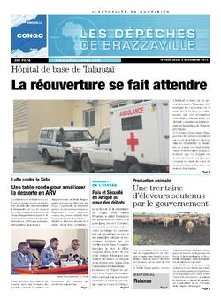 Les Dépêches de Brazzaville : Édition brazzaville du 05 décembre 2013