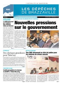 Les Dépêches de Brazzaville : Édition kinshasa du 05 décembre 2013