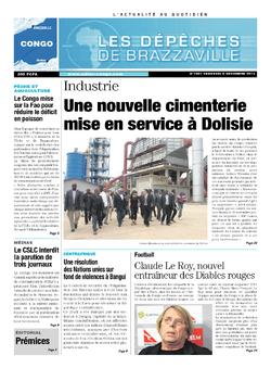 Les Dépêches de Brazzaville : Édition brazzaville du 06 décembre 2013