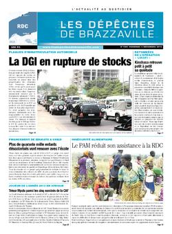 Les Dépêches de Brazzaville : Édition kinshasa du 06 décembre 2013