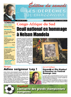 Les Dépêches de Brazzaville : Édition du 6e jour du 07 décembre 2013