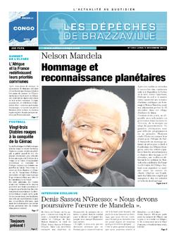 Les Dépêches de Brazzaville : Édition brazzaville du 09 décembre 2013