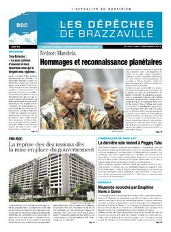 Les Dépêches de Brazzaville : Édition kinshasa du 09 décembre 2013