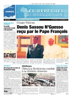 Les Dépêches de Brazzaville : Édition brazzaville du 10 décembre 2013