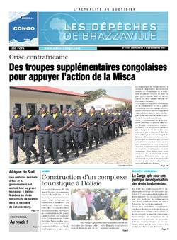 Les Dépêches de Brazzaville : Édition brazzaville du 11 décembre 2013