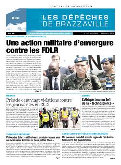 Les Dépêches de Brazzaville : Édition kinshasa du 11 décembre 2013