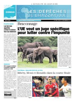 Les Dépêches de Brazzaville : Édition brazzaville du 12 décembre 2013