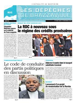 Les Dépêches de Brazzaville : Édition kinshasa du 12 décembre 2013