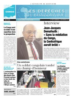 Les Dépêches de Brazzaville : Édition brazzaville du 13 décembre 2013