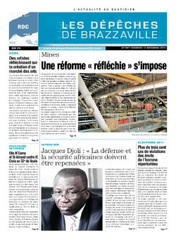 Les Dépêches de Brazzaville : Édition kinshasa du 13 décembre 2013