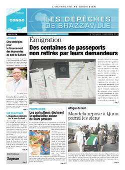 Les Dépêches de Brazzaville : Édition brazzaville du 16 décembre 2013