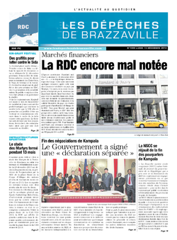 Les Dépêches de Brazzaville : Édition kinshasa du 16 décembre 2013
