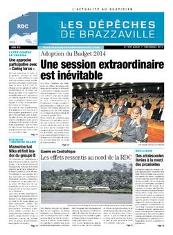 Les Dépêches de Brazzaville : Édition kinshasa du 17 décembre 2013