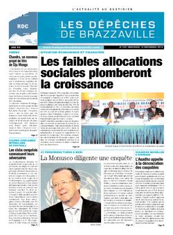 Les Dépêches de Brazzaville : Édition kinshasa du 18 décembre 2013