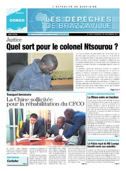 Les Dépêches de Brazzaville : Édition brazzaville du 20 décembre 2013