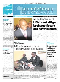 Les Dépêches de Brazzaville : Édition brazzaville du 23 décembre 2013