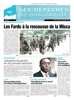 Les Dépêches de Brazzaville : Édition kinshasa du 23 décembre 2013