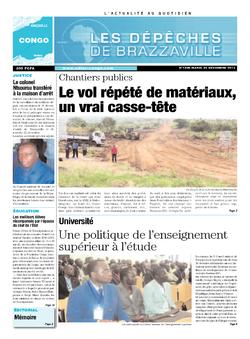 Les Dépêches de Brazzaville : Édition brazzaville du 24 décembre 2013