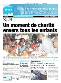 Les Dépêches de Brazzaville : Édition brazzaville du 26 décembre 2013