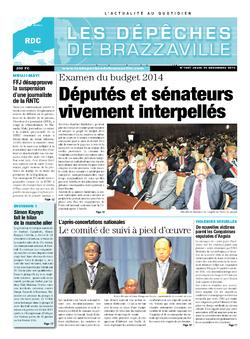 Les Dépêches de Brazzaville : Édition kinshasa du 26 décembre 2013