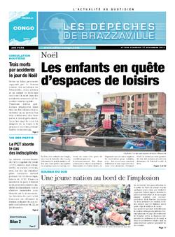Les Dépêches de Brazzaville : Édition brazzaville du 27 décembre 2013