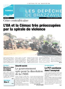Les Dépêches de Brazzaville : Édition brazzaville du 30 décembre 2013