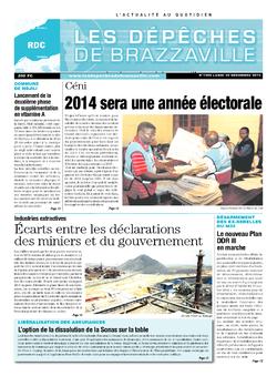 Les Dépêches de Brazzaville : Édition kinshasa du 30 décembre 2013