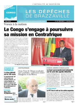 Les Dépêches de Brazzaville : Édition brazzaville du 03 janvier 2014