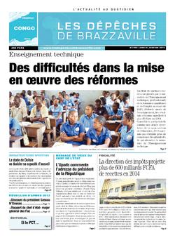 Les Dépêches de Brazzaville : Édition brazzaville du 06 janvier 2014