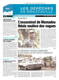 Les Dépêches de Brazzaville : Édition kinshasa du 06 janvier 2014