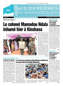 Les Dépêches de Brazzaville : Édition kinshasa du 07 janvier 2014