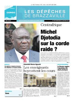 Les Dépêches de Brazzaville : Édition brazzaville du 08 janvier 2014