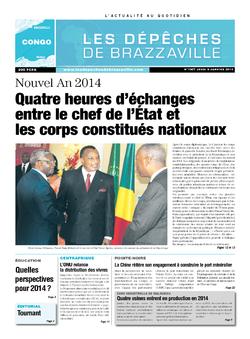 Les Dépêches de Brazzaville : Édition brazzaville du 09 janvier 2014
