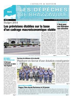 Les Dépêches de Brazzaville : Édition kinshasa du 09 janvier 2014