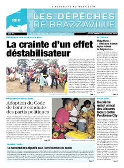 Les Dépêches de Brazzaville : Édition kinshasa du 10 janvier 2014