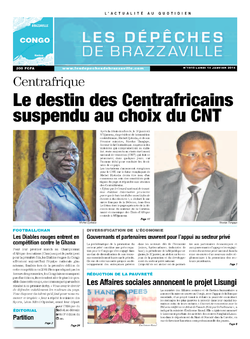 Les Dépêches de Brazzaville : Édition brazzaville du 13 janvier 2014