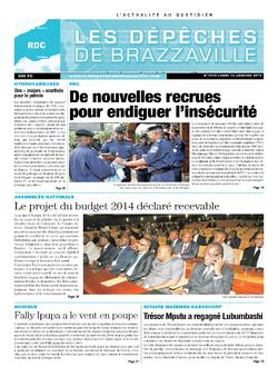 Les Dépêches de Brazzaville : Édition kinshasa du 13 janvier 2014