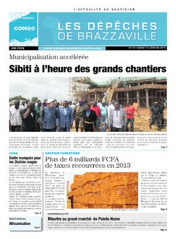 Les Dépêches de Brazzaville : Édition brazzaville du 14 janvier 2014