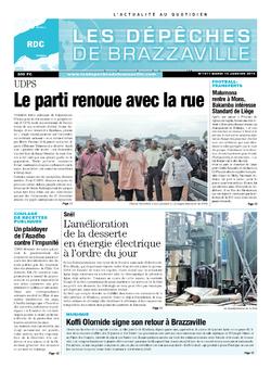 Les Dépêches de Brazzaville : Édition kinshasa du 14 janvier 2014