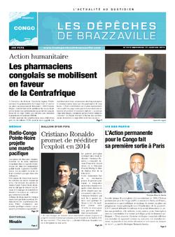 Les Dépêches de Brazzaville : Édition brazzaville du 15 janvier 2014